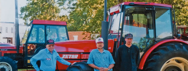 M.A., Ken, Travis with Zetor Tractor